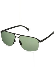 BOSS by Hugo Boss Men's B0839s Rectangular Sunglasses  61 mm