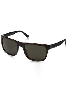 BOSS by Hugo Boss Men's B0918s Rectangular Sunglasses  56 mm