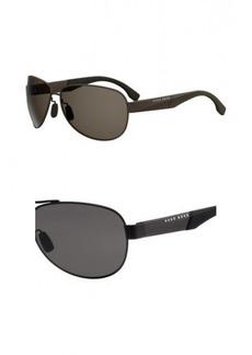 BOSS by Hugo Boss Men's Boss 0915/s Aviator Sunglasses MATT Brown 65 mm