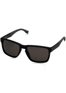 BOSS by Hugo Boss Men's Boss 0916/s Rectangular Sunglasses MATT BLACK 57 mm