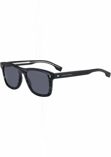 BOSS by Hugo Boss Men's Boss 0925/s Polarized Rectangular Sunglasses  52 mm