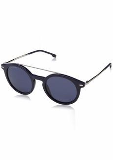BOSS by Hugo Boss Men's Boss 0930/s Rectangular Sunglasses BLUE 55 mm