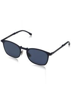 BOSS by Hugo Boss Men's Boss 0942/s Rectangular Sunglasses MATT BLUE 53 mm