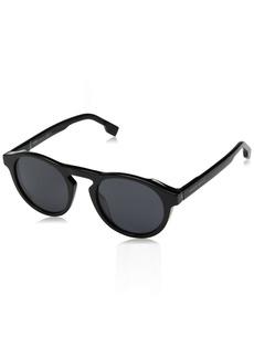 BOSS by Hugo Boss Men's Boss 0973/s Polarized Round Sunglasses BlackGrey 50 mm
