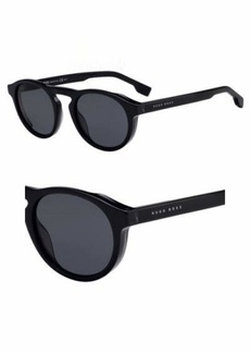 BOSS by Hugo Boss Men's Boss 0973/s Polarized Round Sunglasses BLACKGREY 50 mm