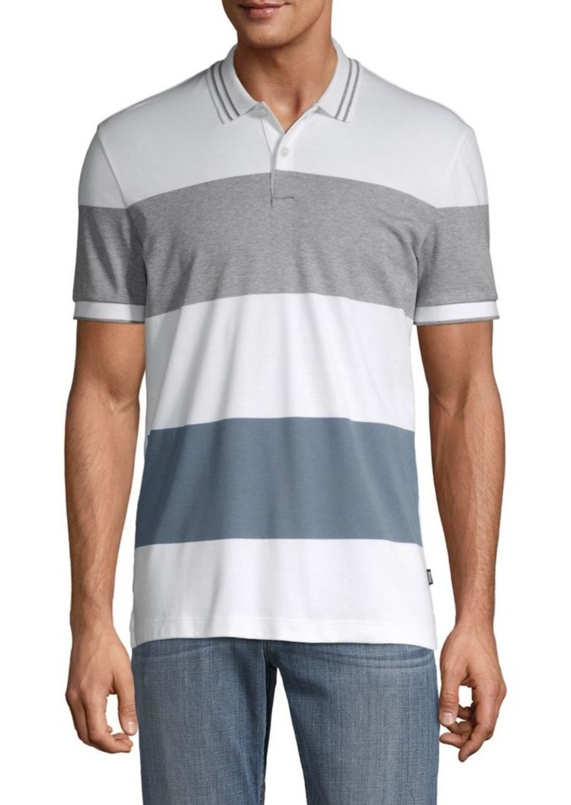 Hugo Boss BOSS Colorblock Striped Cotton Polo