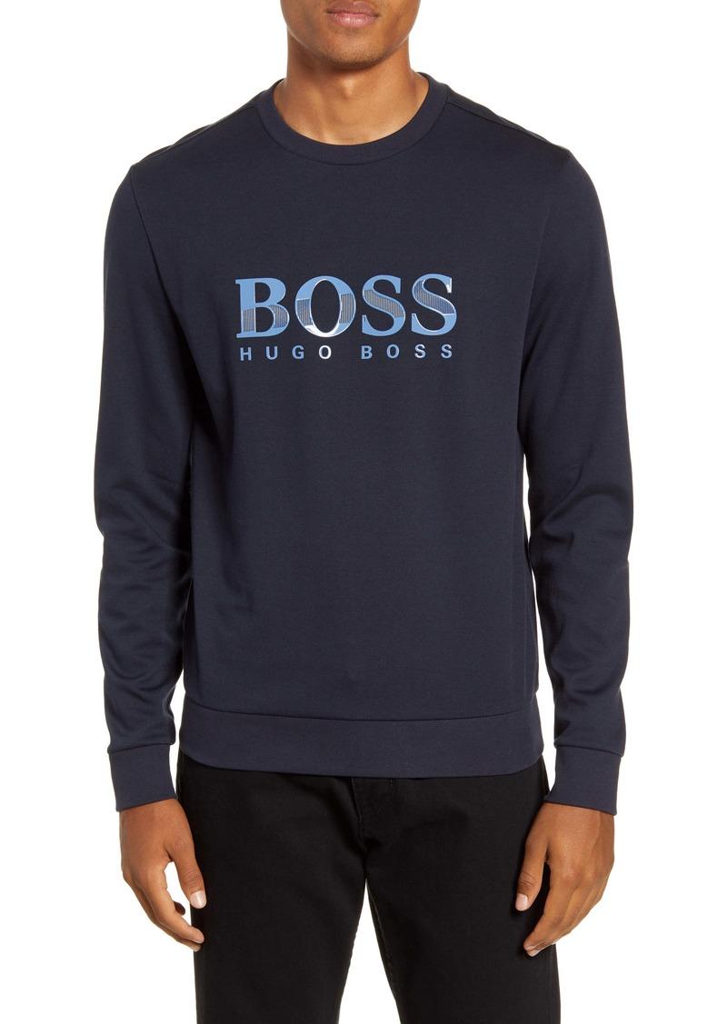Hugo Boss BOSS Cotton Blend Crewneck Sweatshirt