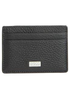 Hugo Boss BOSS Crosstown Leather RFID Money Clip Card Case