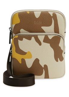 Hugo Boss BOSS Crosstown Print Leather Phone Crossbody Bag