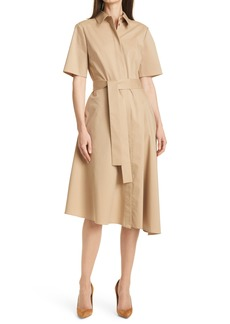 Hugo Boss BOSS Daranda Cotton Blend Shirtdress