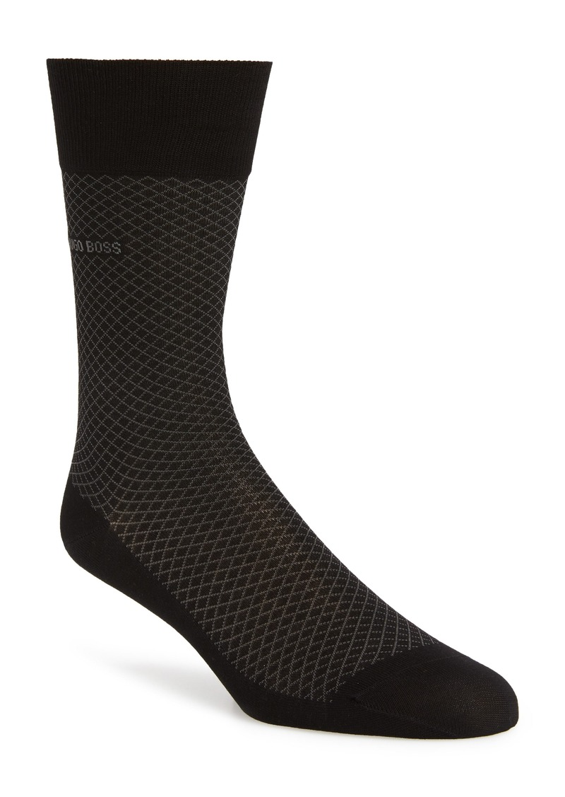 Hugo Boss BOSS Dean Diamond Pattern Socks