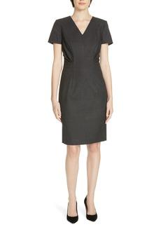 Hugo Boss BOSS 'Deshina' Short Sleeve Wool Sheath Dress (Regular & Petite)