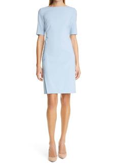 Hugo Boss BOSS Diwoma Studded Wool Blend Sheath Dress (Petite)