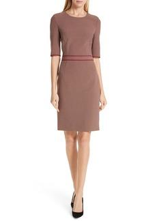 Hugo Boss BOSS Doliviena Check Sheath Dress (Regular & Petite)