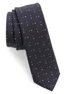 Hugo Boss BOSS Double Dot Silk Skinny Tie