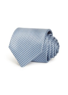 Hugo Boss BOSS Embroidered Geometric Silk Classic Tie