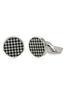 Hugo Boss BOSS Enamel Houndstooth Cuff Links