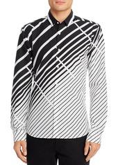 Hugo Boss BOSS Ero3 Abstract Striped Slim-Fit Shirt