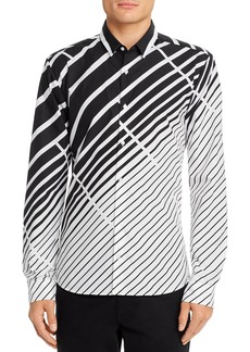 Hugo Boss BOSS Ero3 Abstract Striped Slim-Fit Shirt