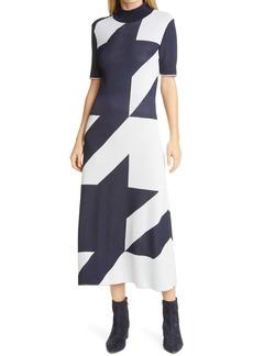 Hugo Boss BOSS Fiah Houndstooth Sweater Dress