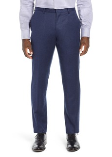 Hugo Boss BOSS Gains Flat Front Solid Wool Trousers