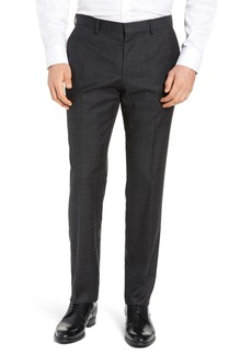 Hugo Boss BOSS Genesis Flat Front Plaid Wool Trousers