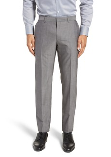 Hugo Boss BOSS Genesis Flat Front Solid Wool Trousers