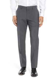 Hugo Boss BOSS Genesis Flat Front Trim Fit Wool Trousers