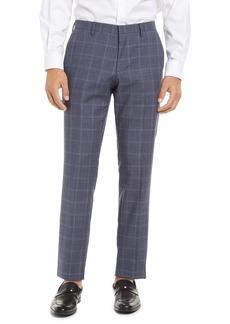 Hugo Boss BOSS Genius Flat Front Check Wool Trousers