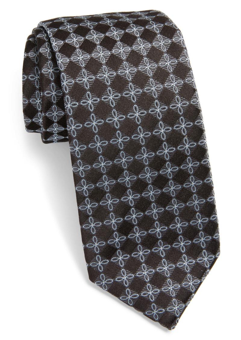 Hugo Boss BOSS Geometric Floral Silk Tie