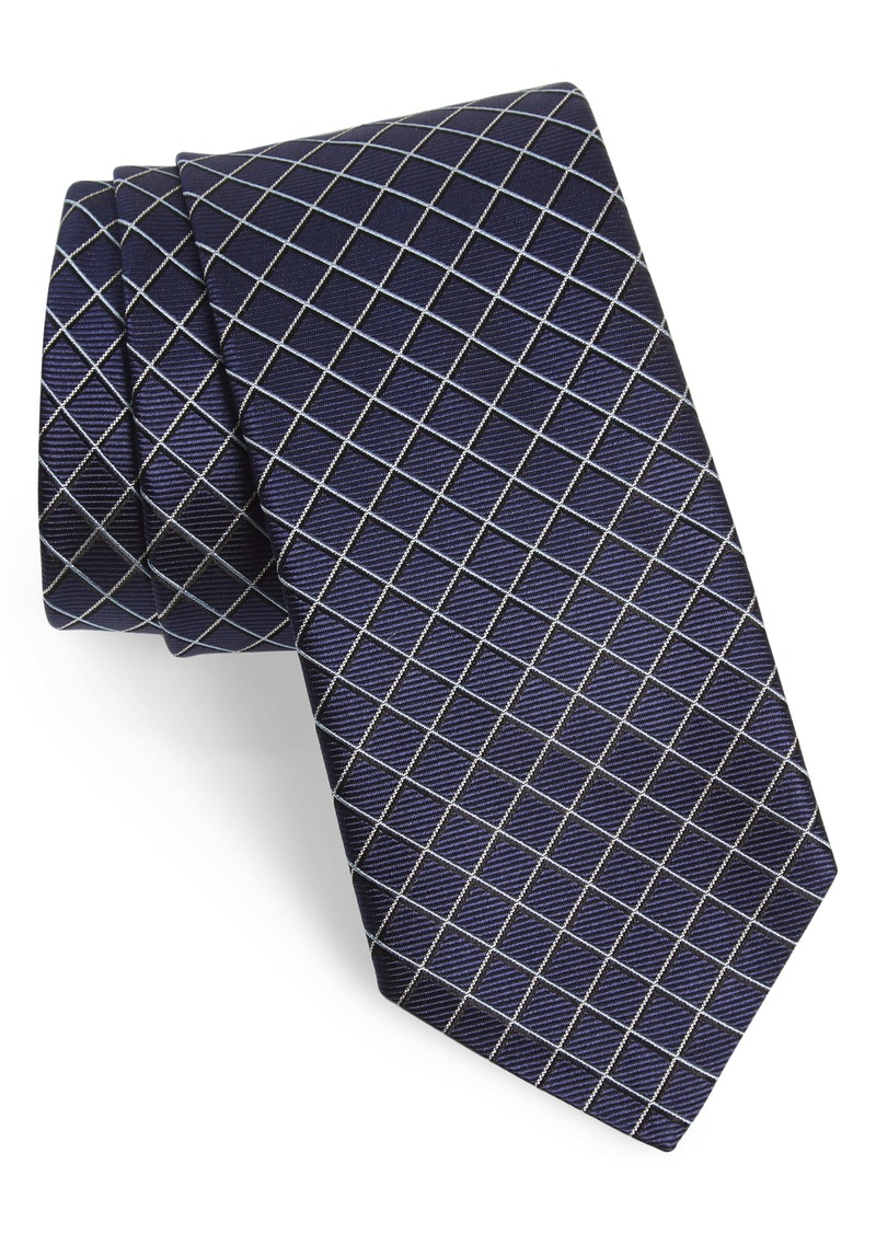 Hugo Boss BOSS Geometric Grid Silk Tie