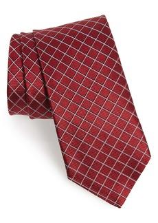 Hugo Boss BOSS Geometric Grid Silk Tie