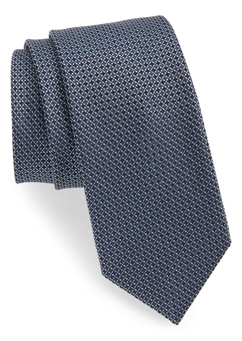 Hugo Boss BOSS Geometric Plaid Silk Tie