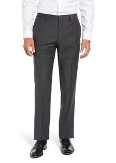 Hugo Boss BOSS Giro Flat Front Solid Wool Trousers
