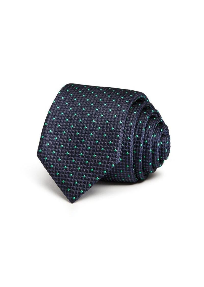 Hugo Boss BOSS Green Dot Skinny Tie