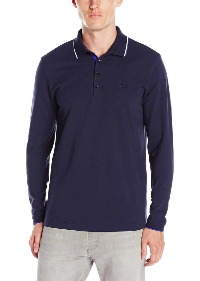 Hugo Boss BOSS Green Men's C-Tivoli Classic Fine Pique Long Sleeve Polo Shirt