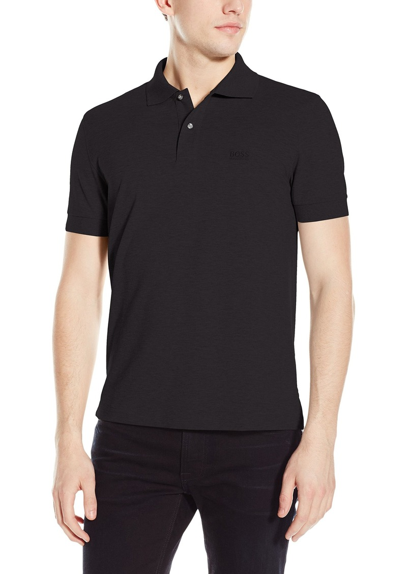 Hugo boss boss green men 39 s firenze modern fit pique polo for Hugo boss green polo shirt sale