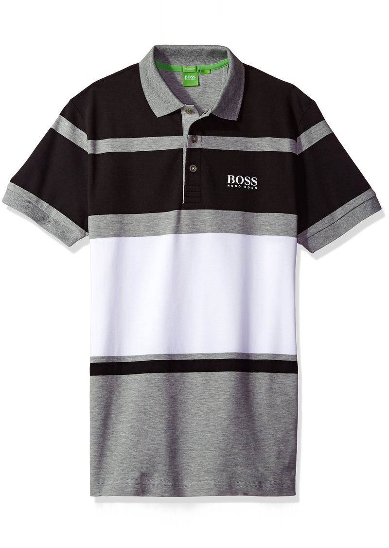 3ce2e6872 SALE! Hugo Boss BOSS Green Men s Paddy Pro Striped Polo Shirt L