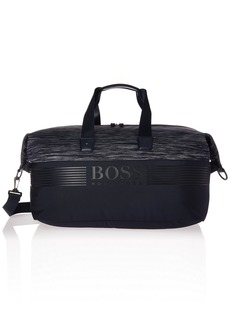 Hugo Boss BOSS Green Men's Pixel Knit Melange Weekender Bag navy