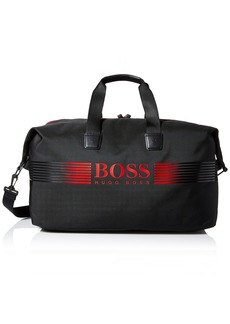 Hugo Boss BOSS Green Men's Pixel Nylon Holdall Weekender Bag Black