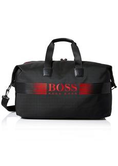 Hugo Boss BOSS Green Men's Pixel Nylon Holdall Weekender Bag Black