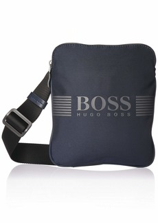 Hugo Boss BOSS Green Men's Pixel Nylon Zip Reporter Pouch Bag navy