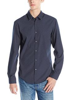 Hugo Boss BOSS Green Men's Printed Long Sleeve Button Down Shirt