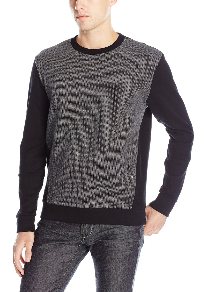 4507107cd Hugo Boss BOSS Green Men's Salbo 2 Heavy Knit Contrast Sweatshirt ...
