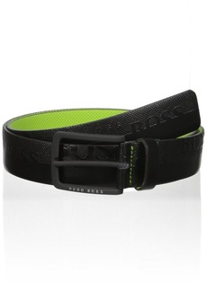 Hugo Boss Boss Green Men's Toluca Boss Logo Leather Belt black