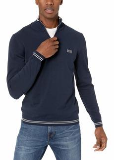 8ff21fab0 Hugo Boss BOSS Green Men's Zimex High Neck Quarter Zip Sweatshirt L