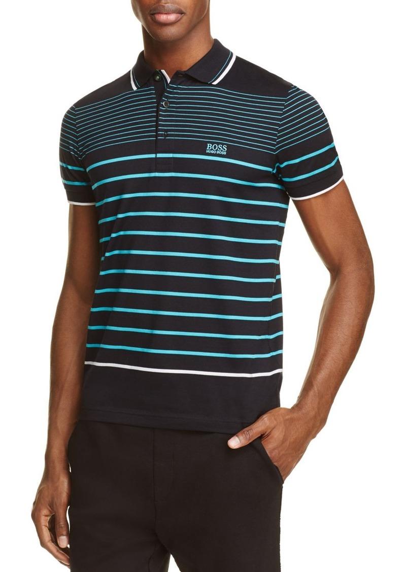 53e51b10c Hugo Boss BOSS Green Paule 2 Stripe Slim Fit Polo Shirt Now $93.75