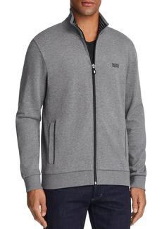 Hugo Boss BOSS Green Skaz Contrast Trim Zip Sweatshirt