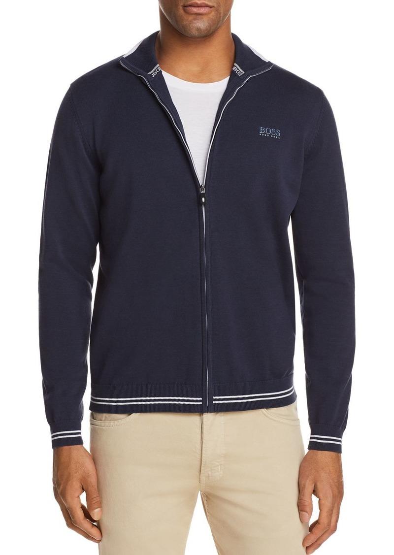 5dc407c8a Hugo Boss BOSS Green Zome Full Zip Sweater | Sweaters