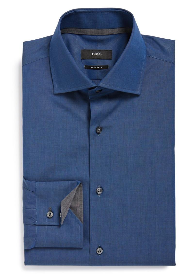 Hugo boss boss 39 gregory 39 ww regular fit dress shirt for Hugo boss shirt dress